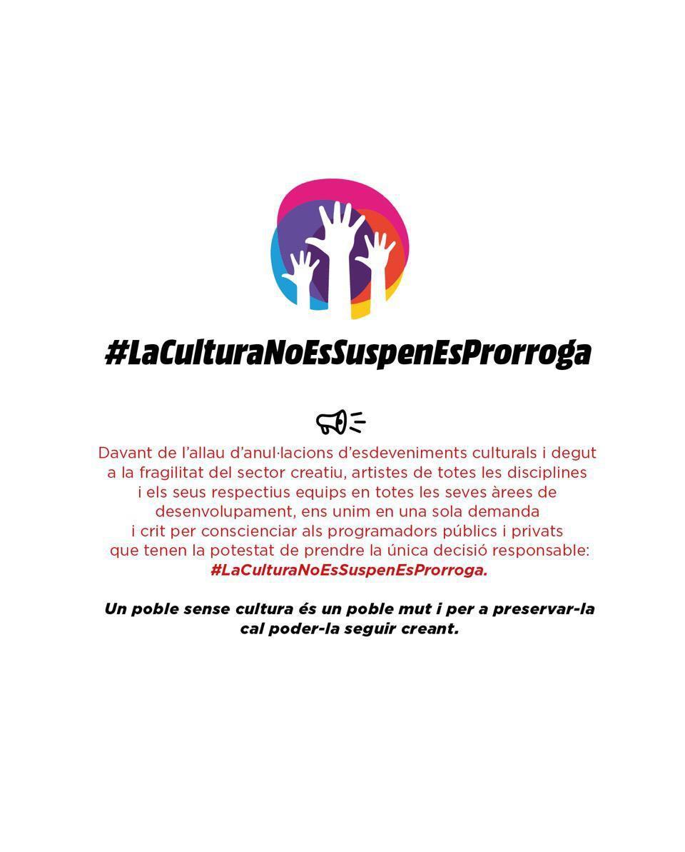 Acadèmia Catalana de la Música L'Acadèmia lidera la campanya 'La cultura no es suspèn, es prorroga'